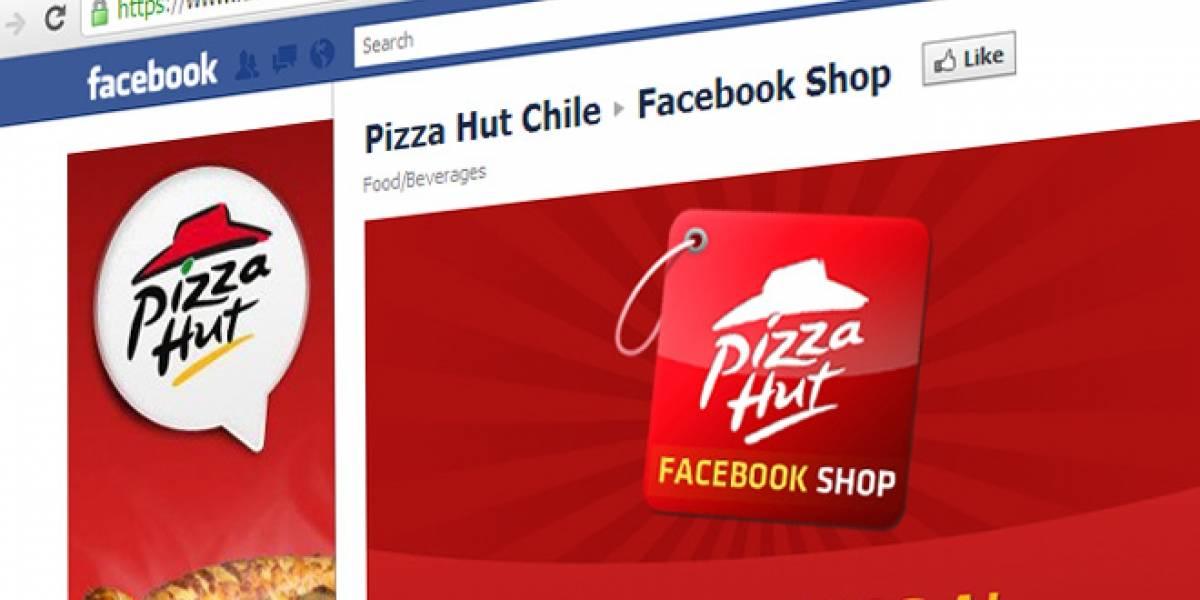 Chile: Pizza Hut lanza aplicación para pedir pizzas por Facebook