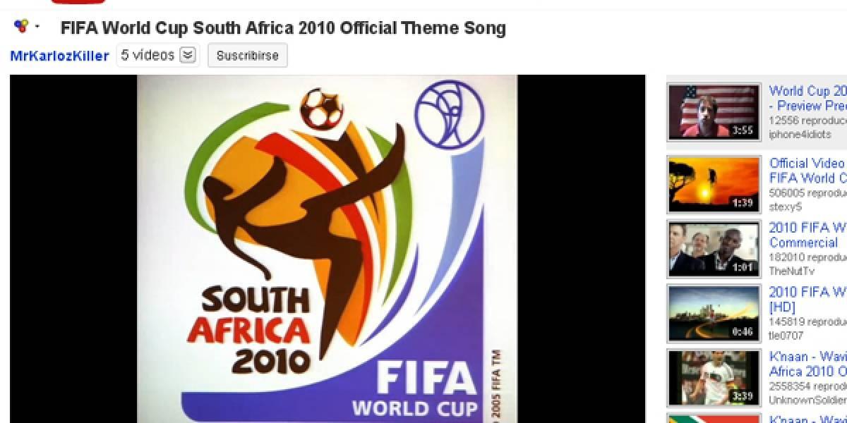 YouTube eliminará los videos del Mundial