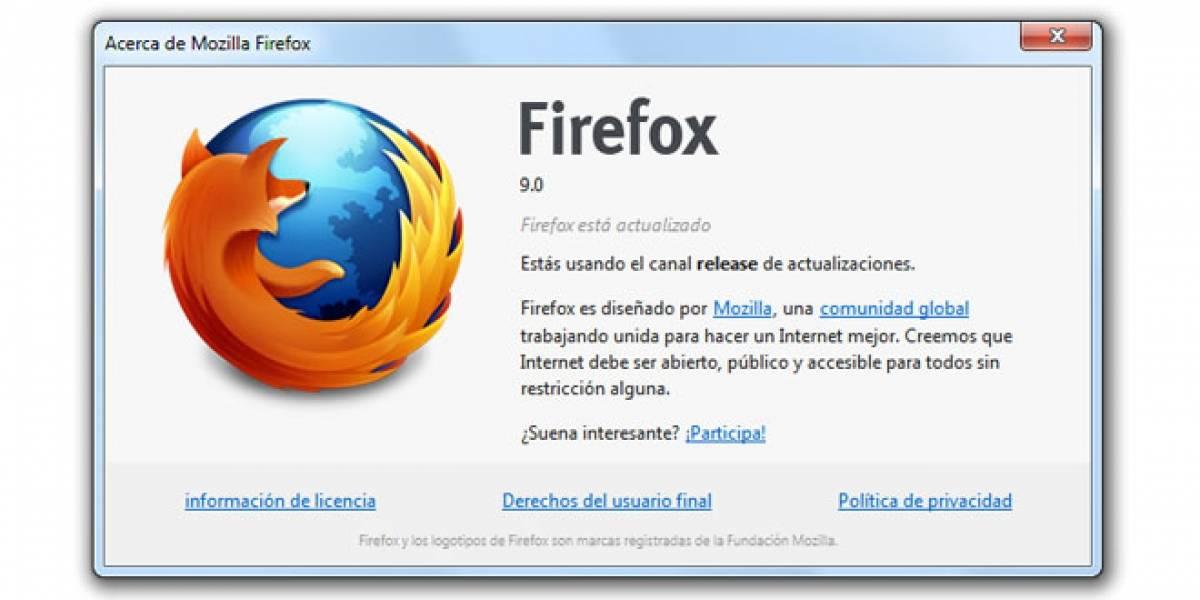 Ya puedes descargar Firefox 9 en español