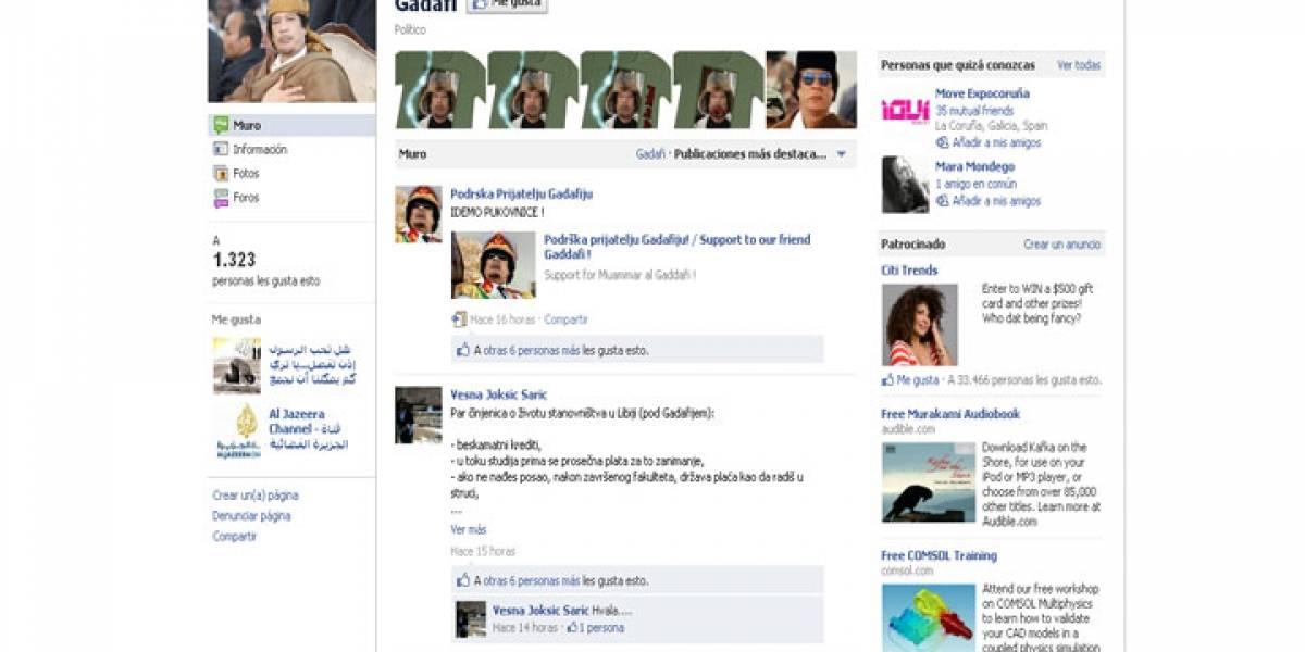 Ultranacionalistas serbios apoyan a Gadafi en Facebook
