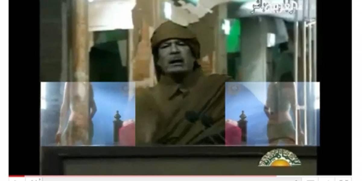 """Vídeo de Gaddafi convertido en """"estrella musical"""" arrasa en YouTube"""