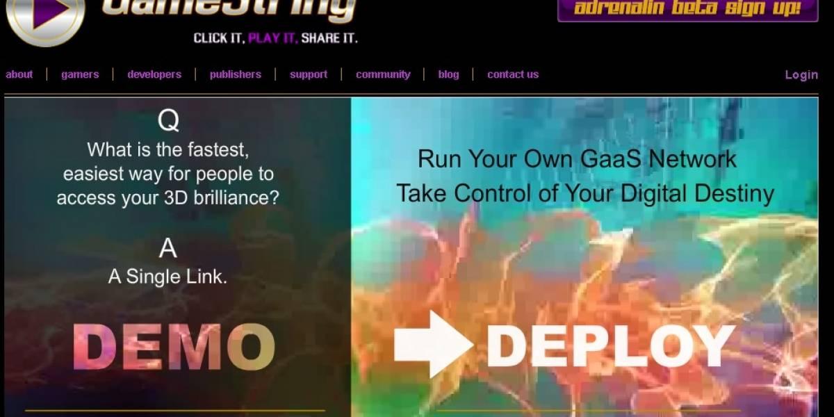 GameString Adrenalin: Videojuegos en la nube