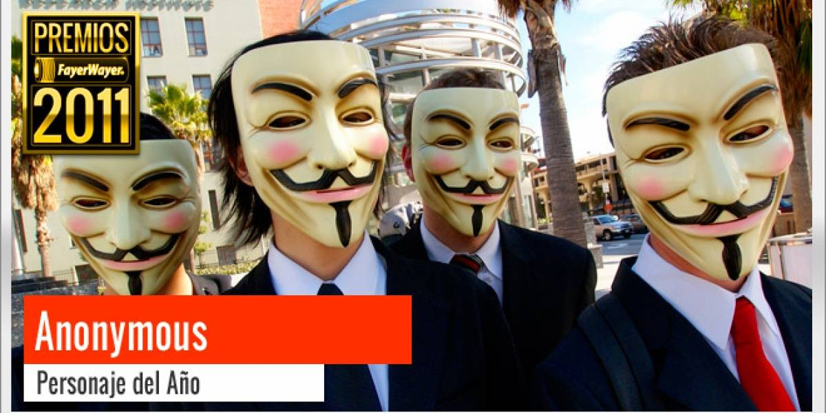 Pila de Oro al Personaje 2011: Anonymous