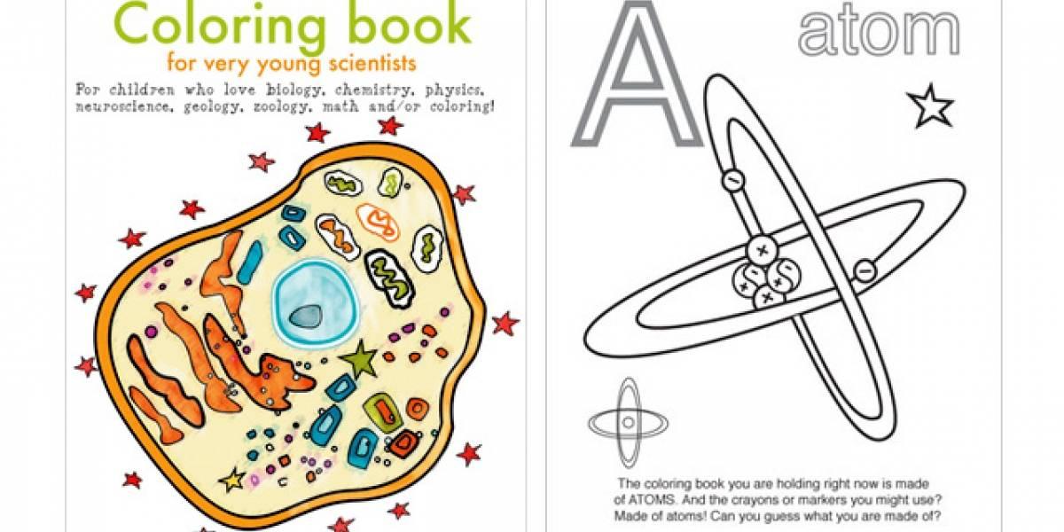 Libro coloreable para jóvenes científicos