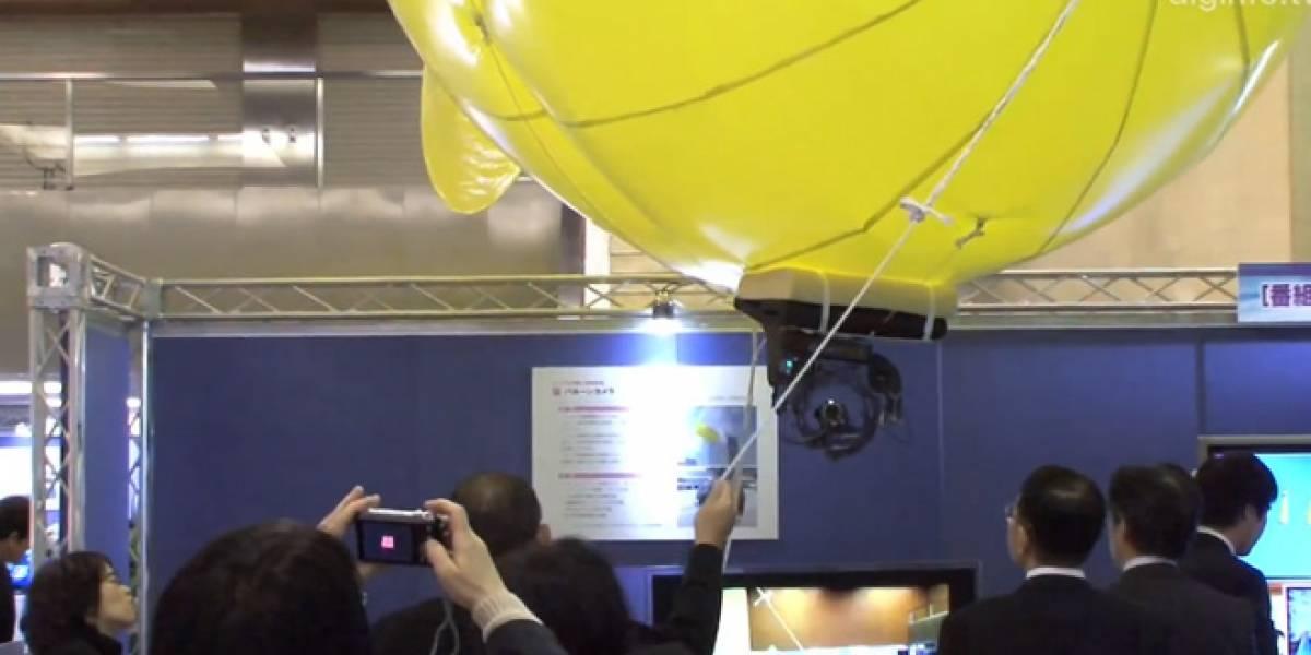 Televisión japonesa inventa globo para grabar desde altura sin usar una grúa