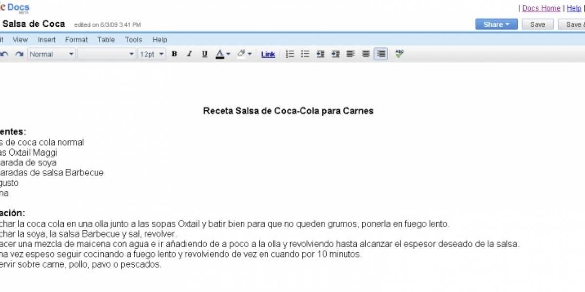 Google Docs ahora con soporte para documentos .xlsx y .docx