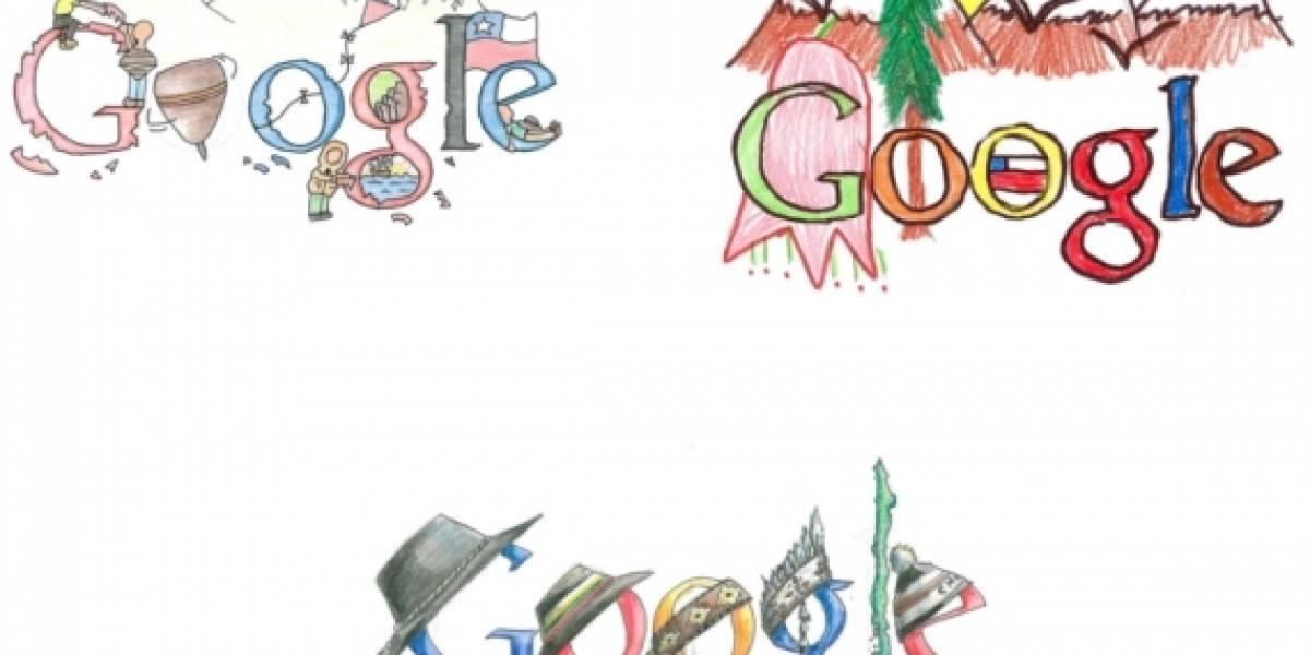"""Chile: Finalistas del concurso """"Doodle for Google: unidos más allá del Bicentenario"""""""