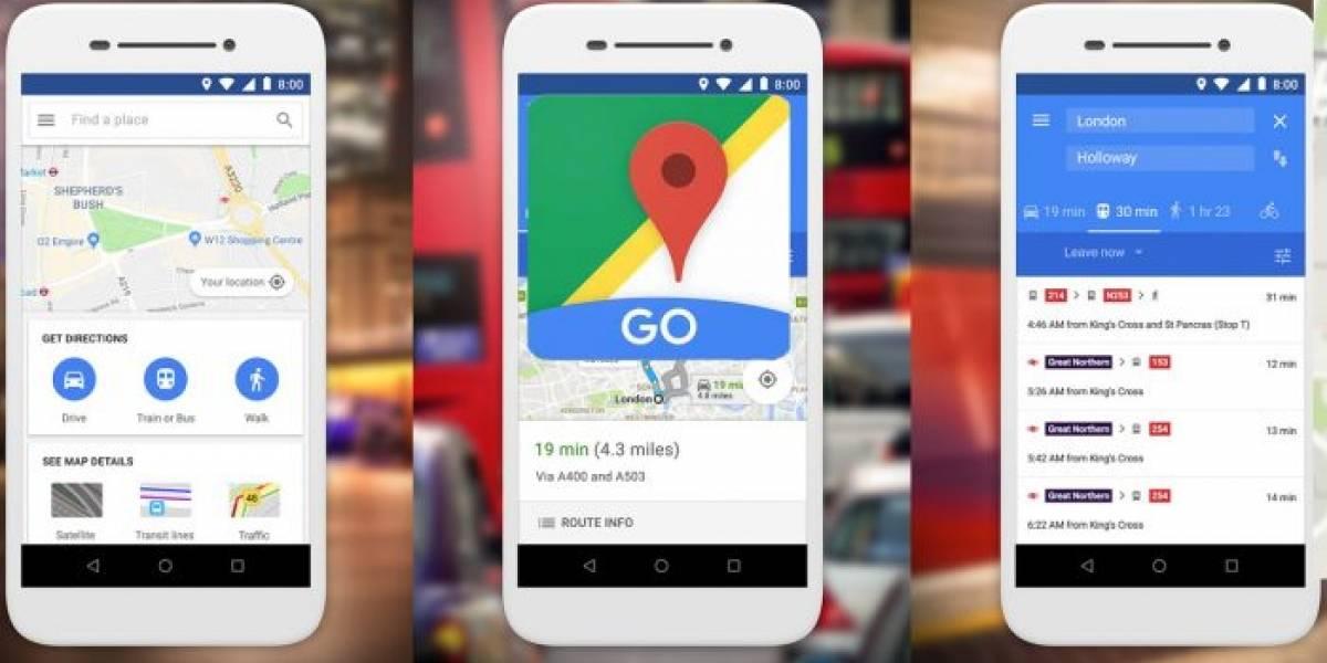 Google Maps Go libera su app para Android Go
