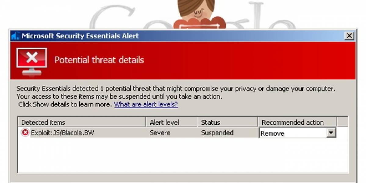 "Antivirus de Microsoft bloqueó a la página de Google por ser ""maliciosa"""