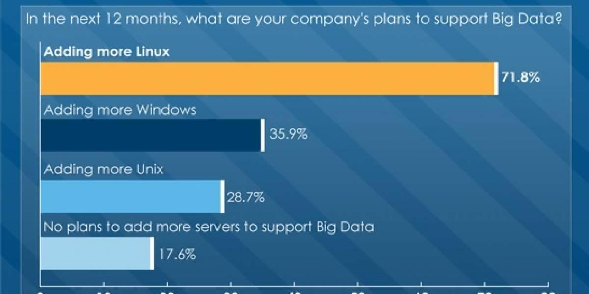 Profesionales de las IT prefieren Linux para el manejo de grandes cantidades de datos
