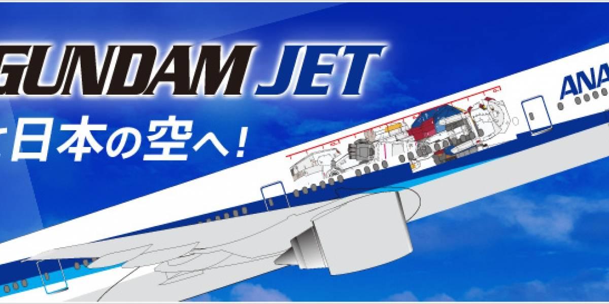 Ahora tenemos Gundams en aviones japoneses