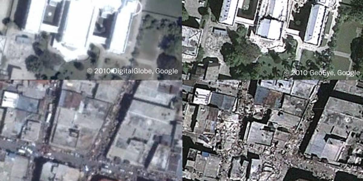 La devastación en Haití desde Google Earth y Google Maps