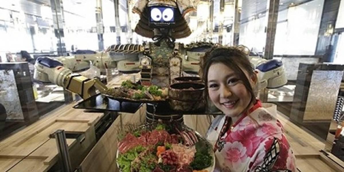 Restaurante en Tailandia atendido por Robots