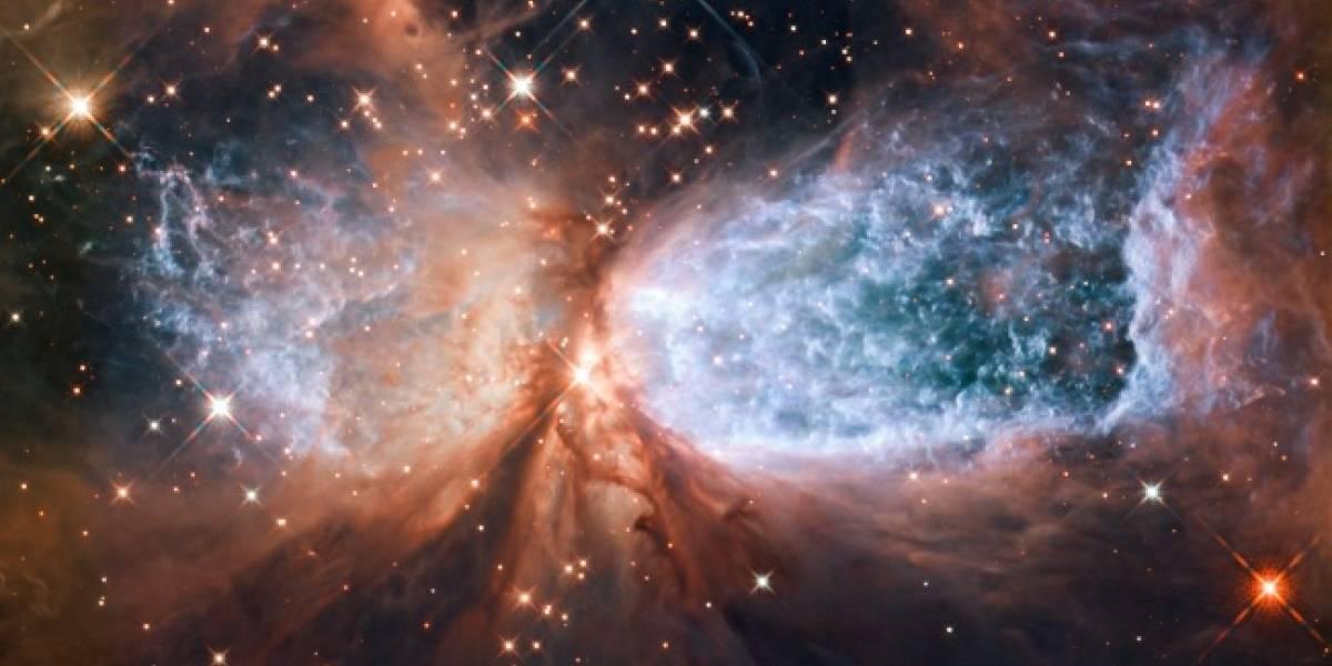 El Hubble logra captar la extrema violencia del proceso final de formación de una estrella