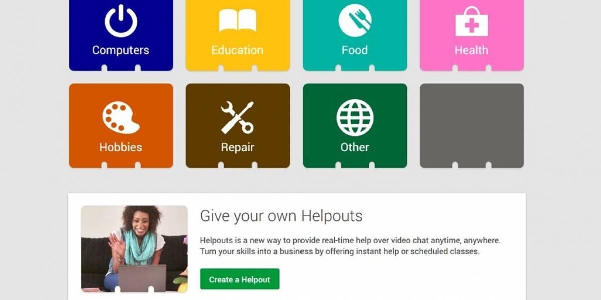 """Google prueba """"Helpouts"""", un mercado de servicios a través de Hangouts"""