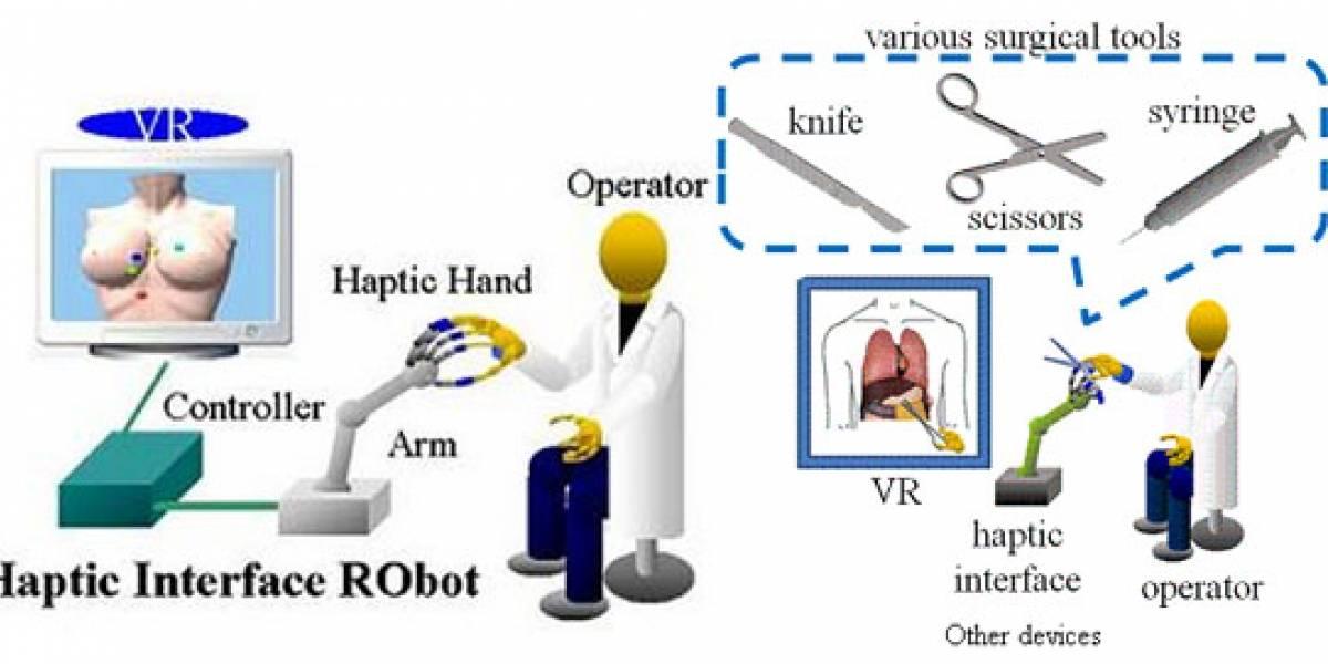"HIRO III: Interfaz robot para ""sentir"" los objetos observados en una pantalla 3D"