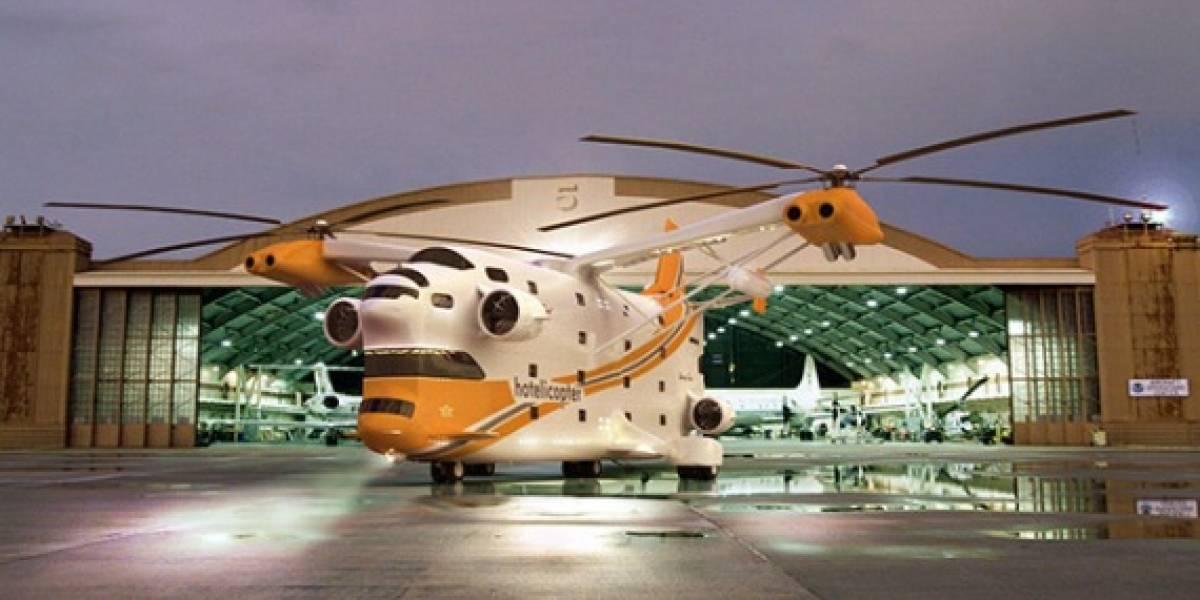 Hotelicopter: El primer hotel del mundo dentro de un helicóptero