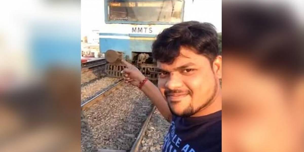 Joven quiso sacarse la mejor selfie de la historia delante de un tren en movimiento: el resultado fue estúpido y doloroso