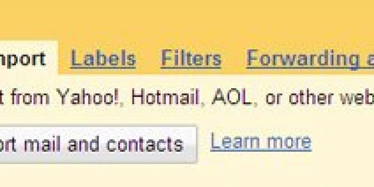 Gmail permite importar contactos de Yahoo! Hotmail y AOL