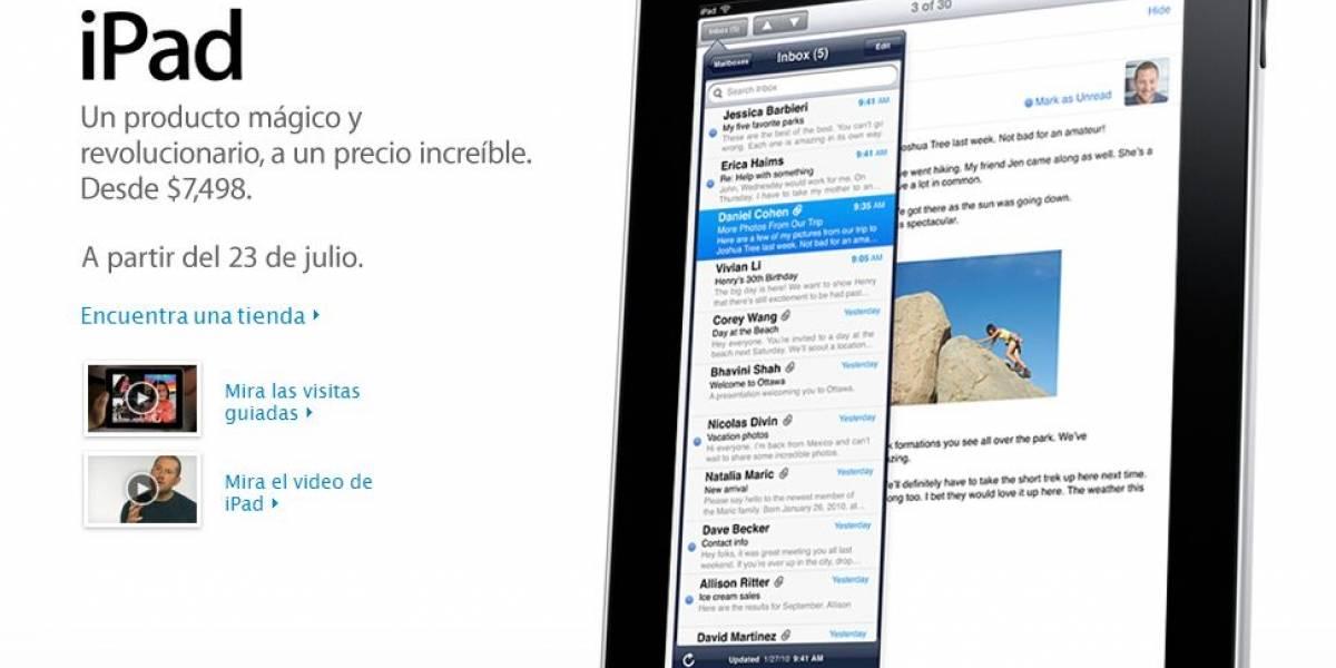 Precio oficial del iPad en México