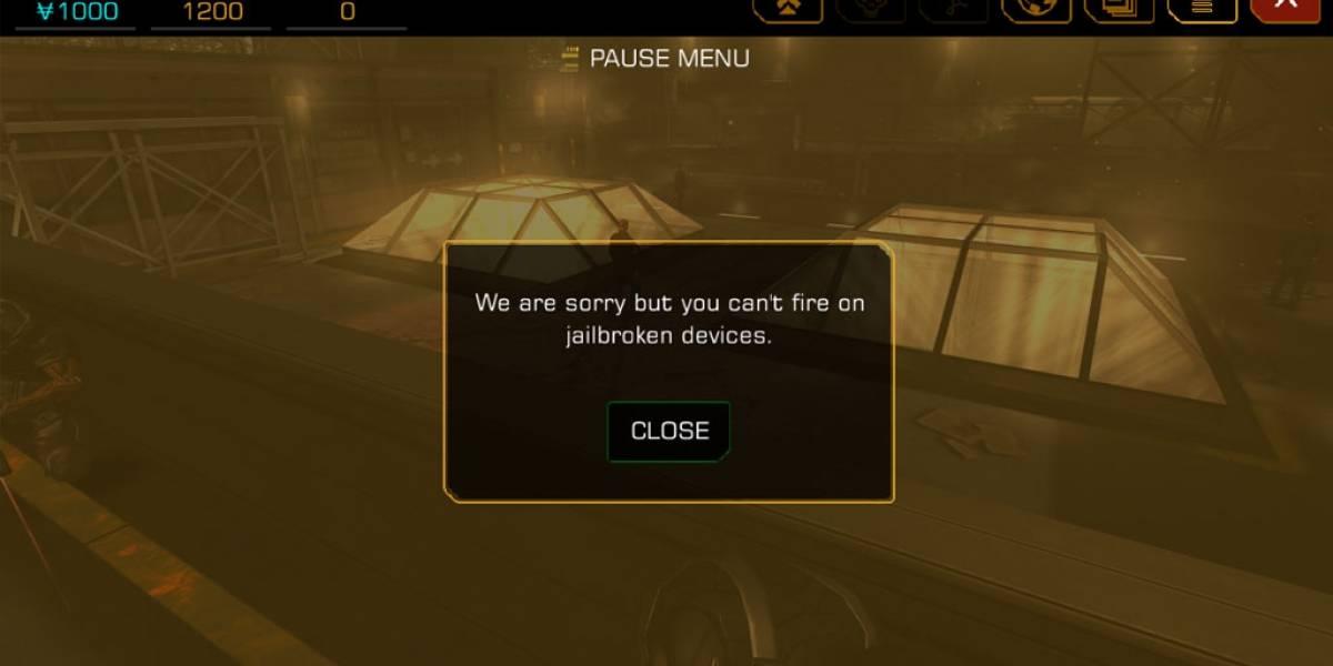 Deus Ex para iOS viene con regalito para aquellos que hicieron jailbreak [Actualizado]