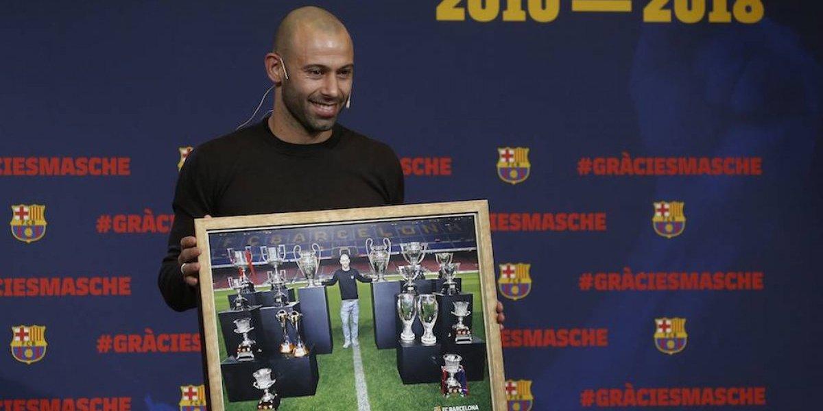 Barcelona despide a Mascherano en emotiva ceremonia