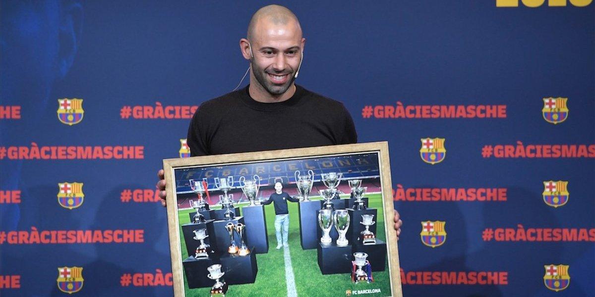 VIDEO. Jugadores del Barcelona le dan emotiva despedida a Javier Mascherano