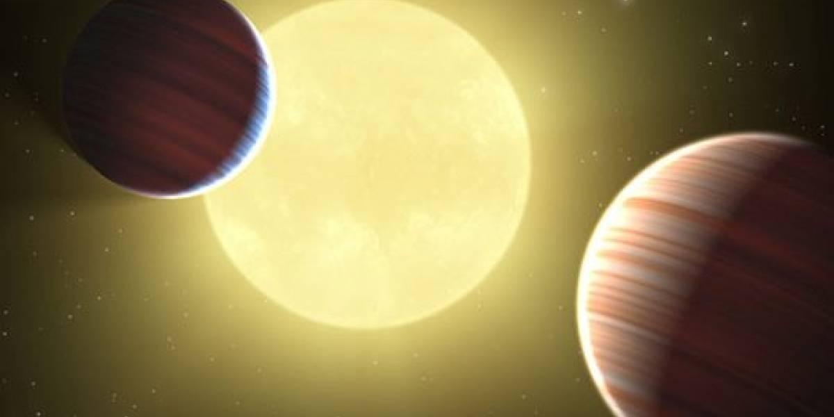 Descubren dos planetas que comparten la misma órbita