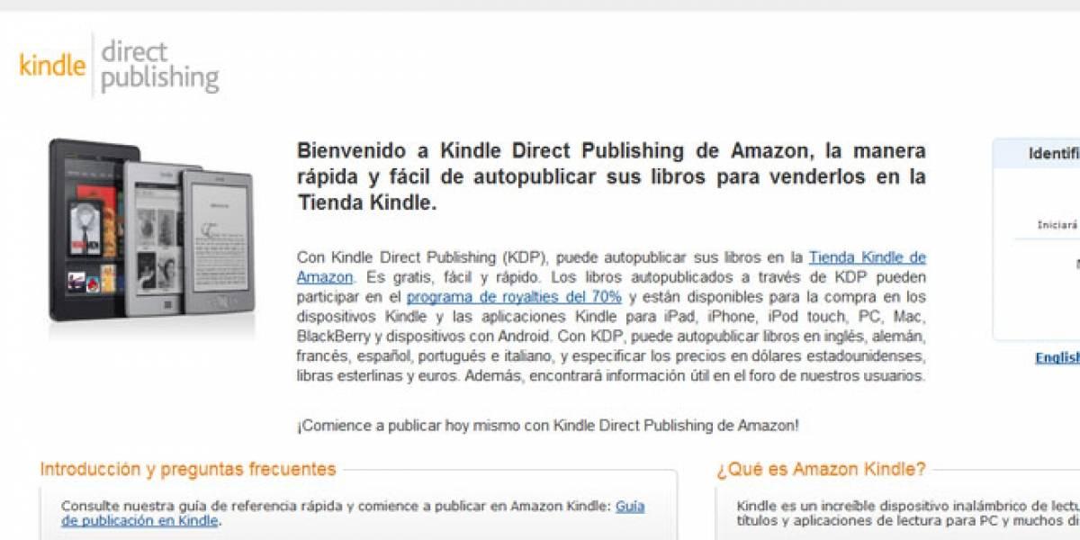 El servicio de edición de eBooks de Amazon ya funciona en España
