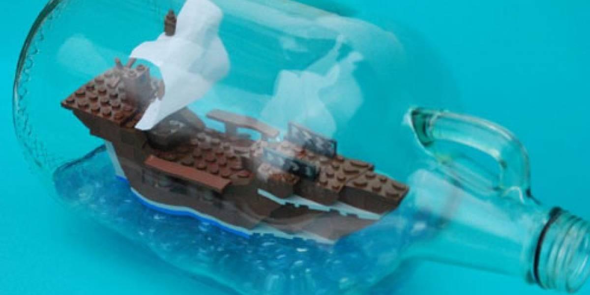 Video: Un barco de LEGO dentro de una botella de vino