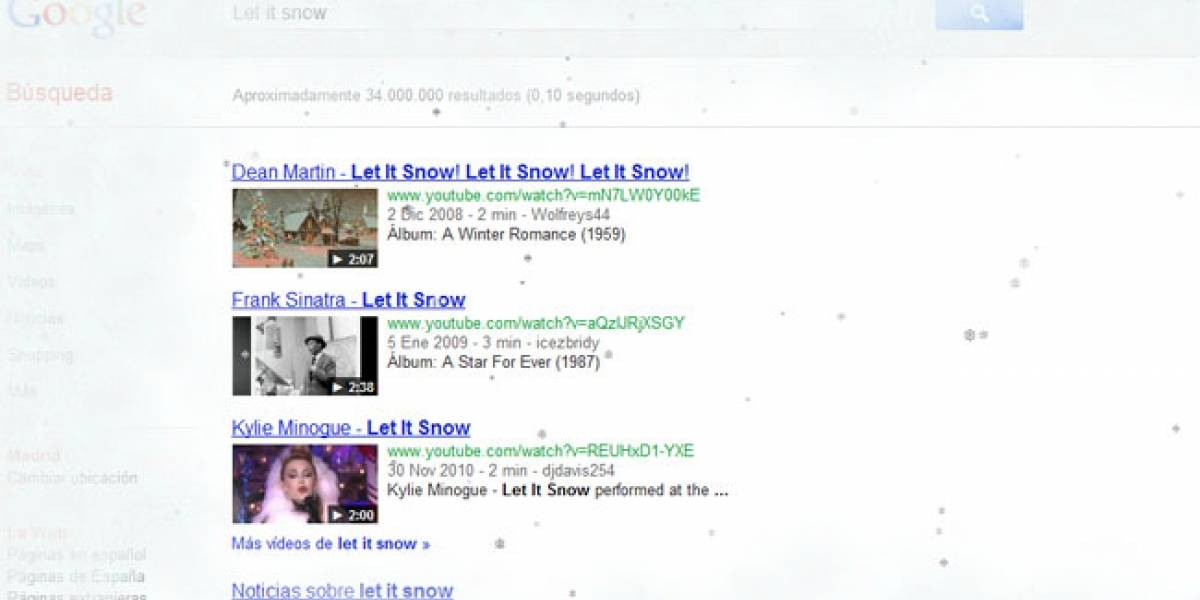 Google celebra la Navidad cubriendo de nieve nuestros monitores