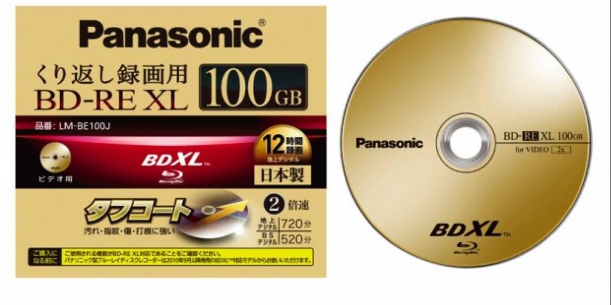 Panasonic anuncia el primer disco BDXL re-escribible