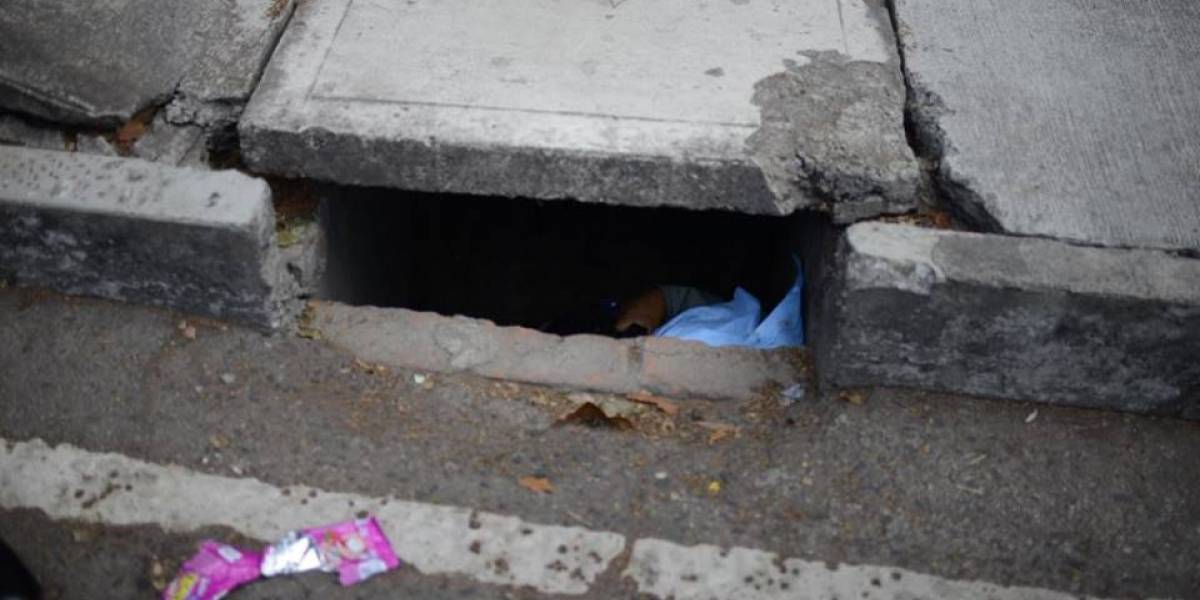 Localizan a hombre fallecido dentro de un tragante en la zona 13