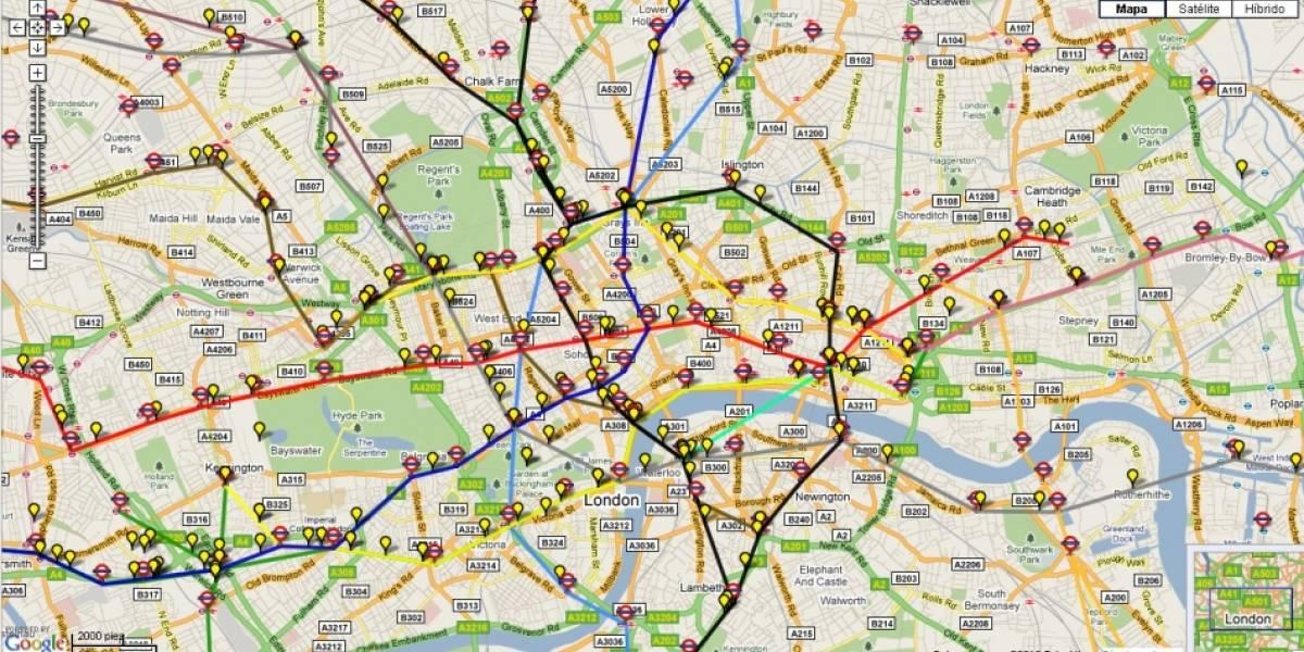 Sigue en tiempo real el funcionamiento del metro de Londres