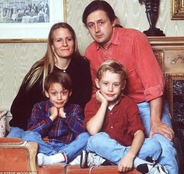 Macaulay Culkin y su familia
