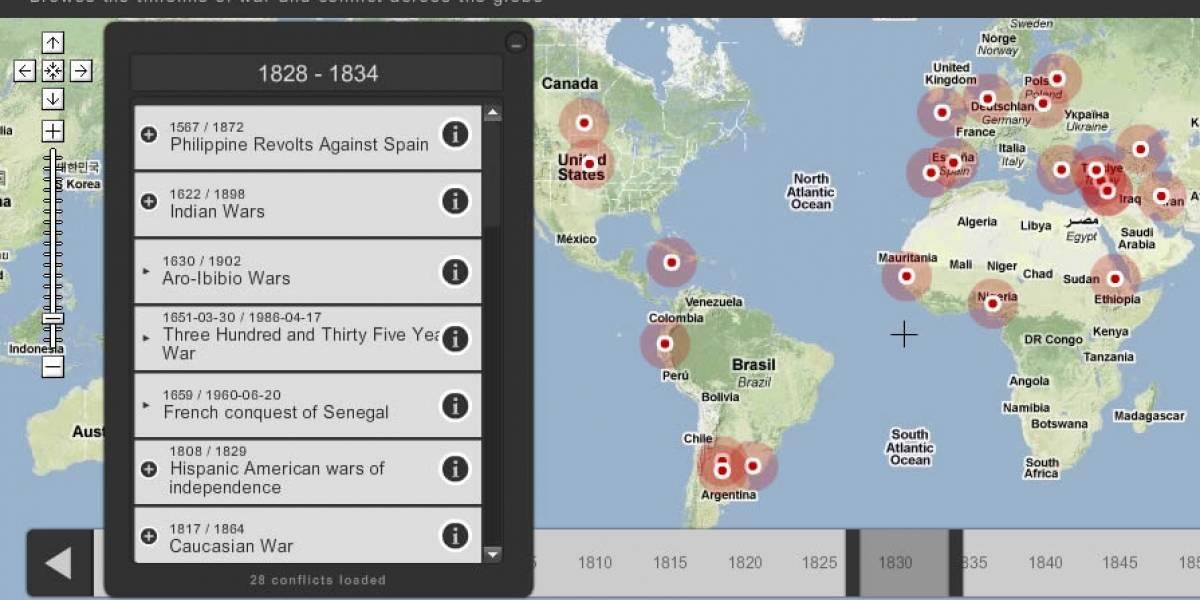 Con este mapa interactivo aprendes más sobre guerras que en toda la etapa escolar