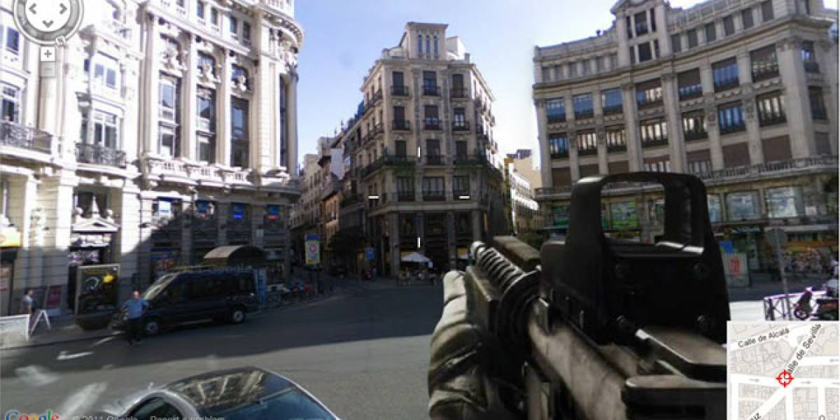 Navega en Google Maps al estilo Call of Duty