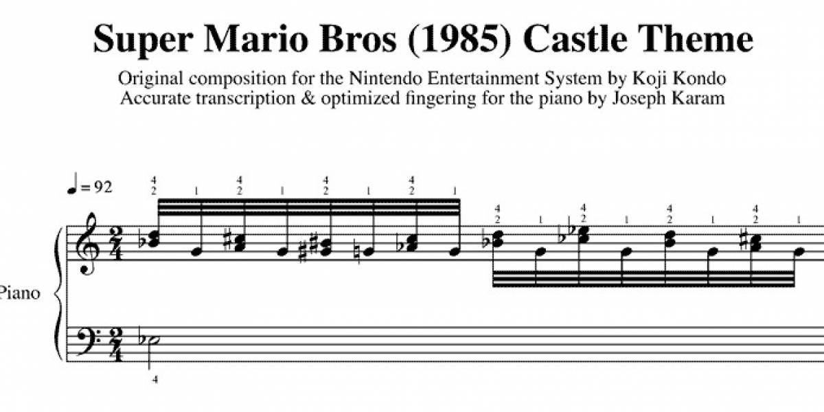 Pianista publica las partituras completas de Super Mario Bros