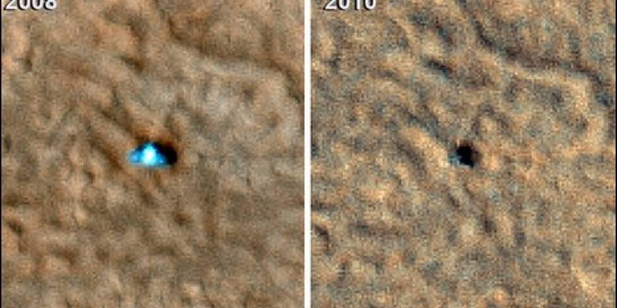 Mars Phoenix fue destruido por el hielo