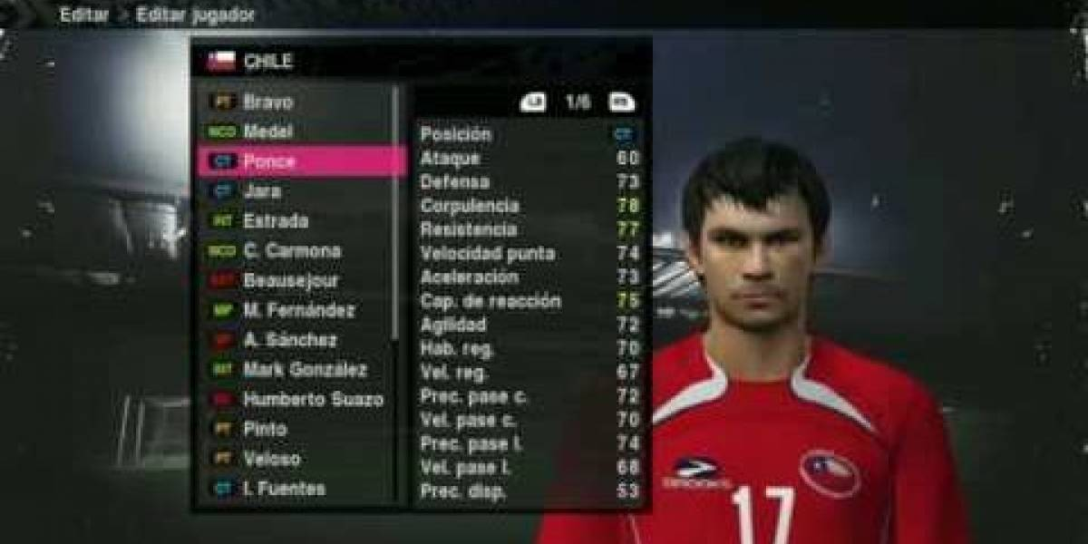 Chile vs Suiza ya jugaron (en PES 2010)