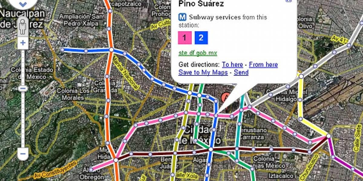 Google Maps añade capa de tránsito para transporte público