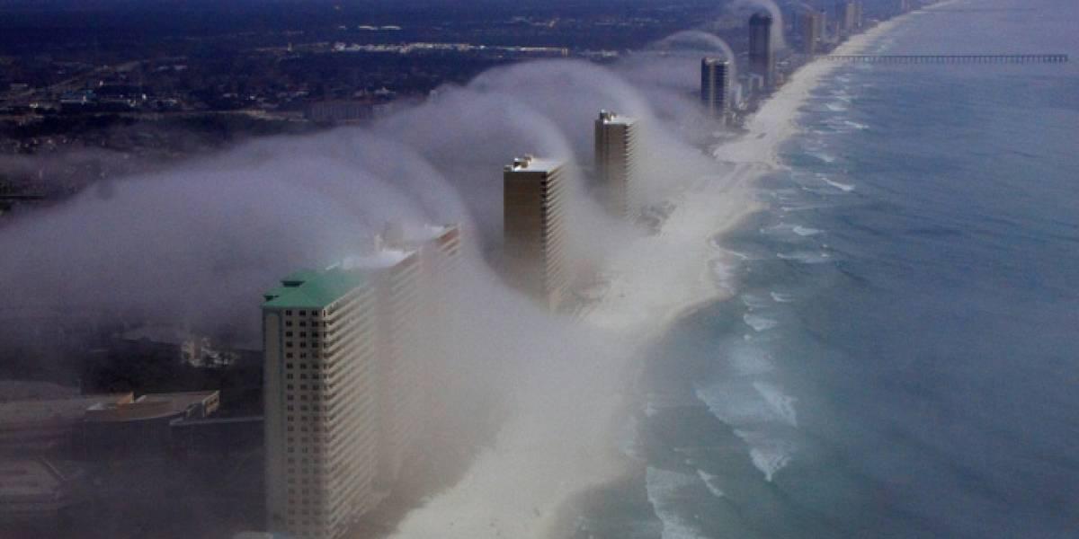 """Imperdible: Un """"tsunami de nubes"""" envuelve los edificios de Panama City Beach"""