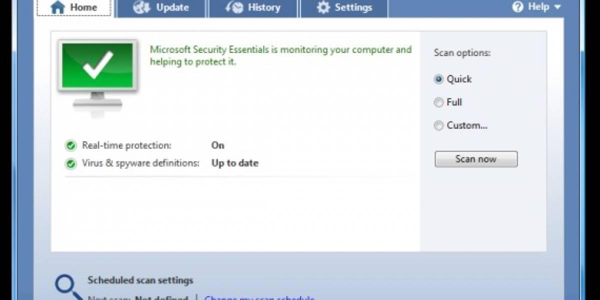 Microsoft detiene las descargas del beta de Security Essentials