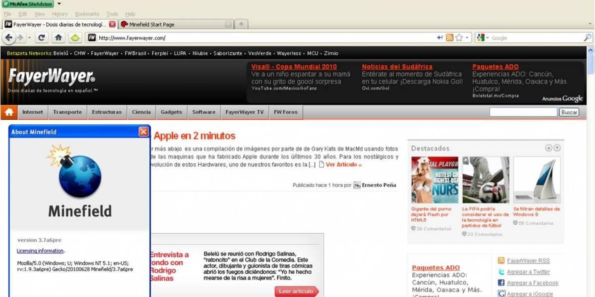 Firefox 4 Pre-Beta disponible