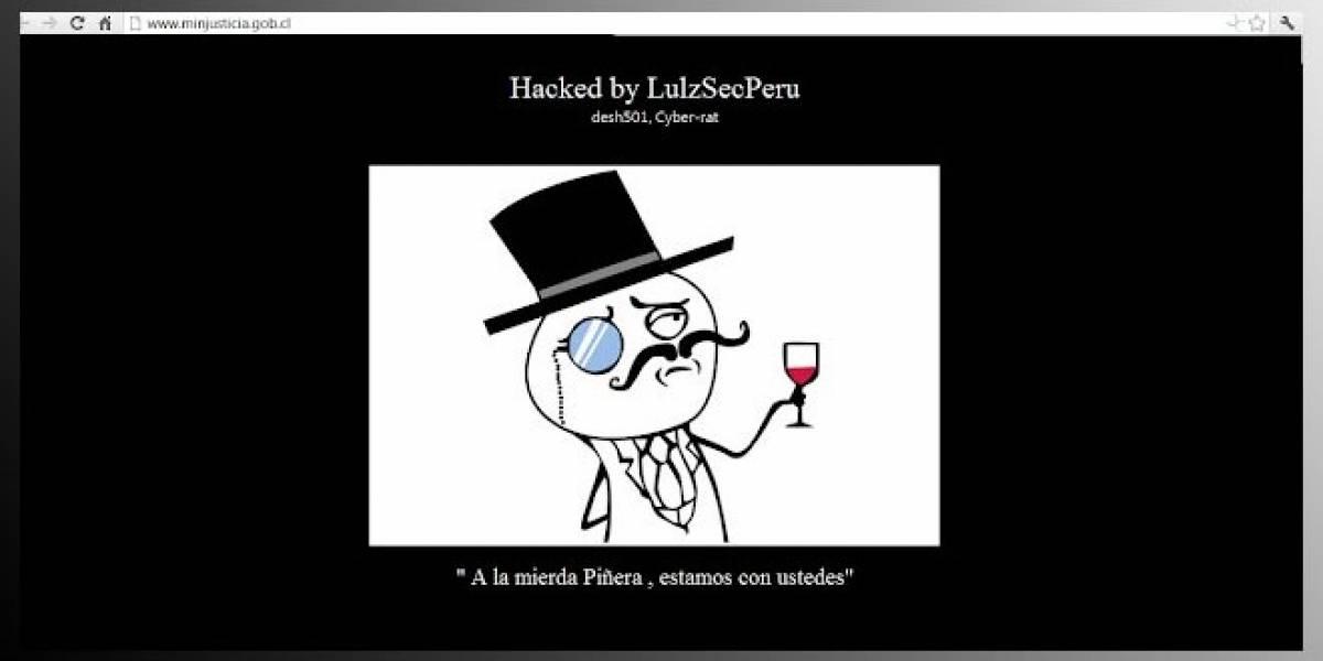 LulzSecPeru ataca Web del Ministerio de Justicia de Chile