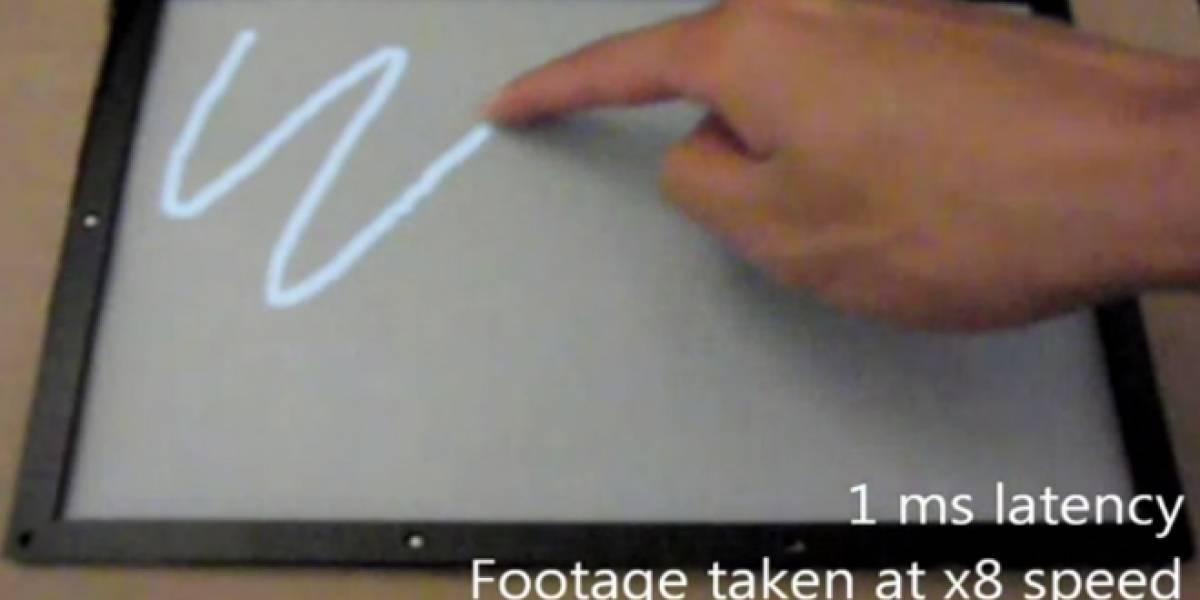 Microsoft crea pantalla táctil que responde en una milésima de segundo