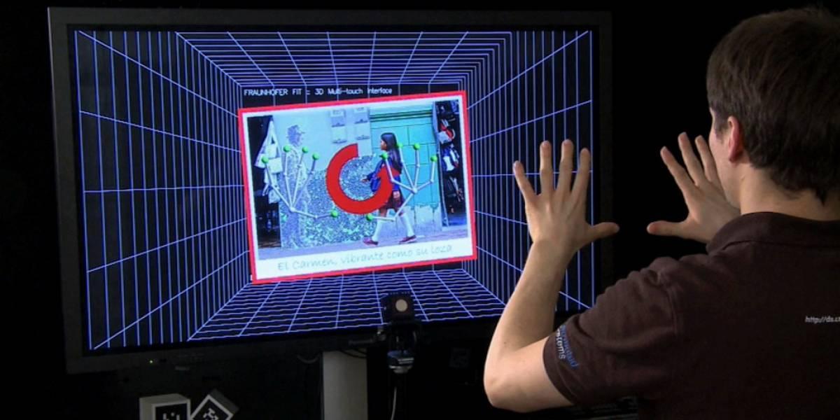 "Fraunhofer FIT presenta un sistema ""multitáctil"" 3D sin contacto"