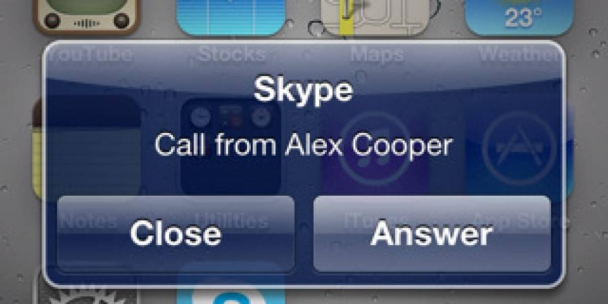 La app de Skype, ahora compatible con iOS 4