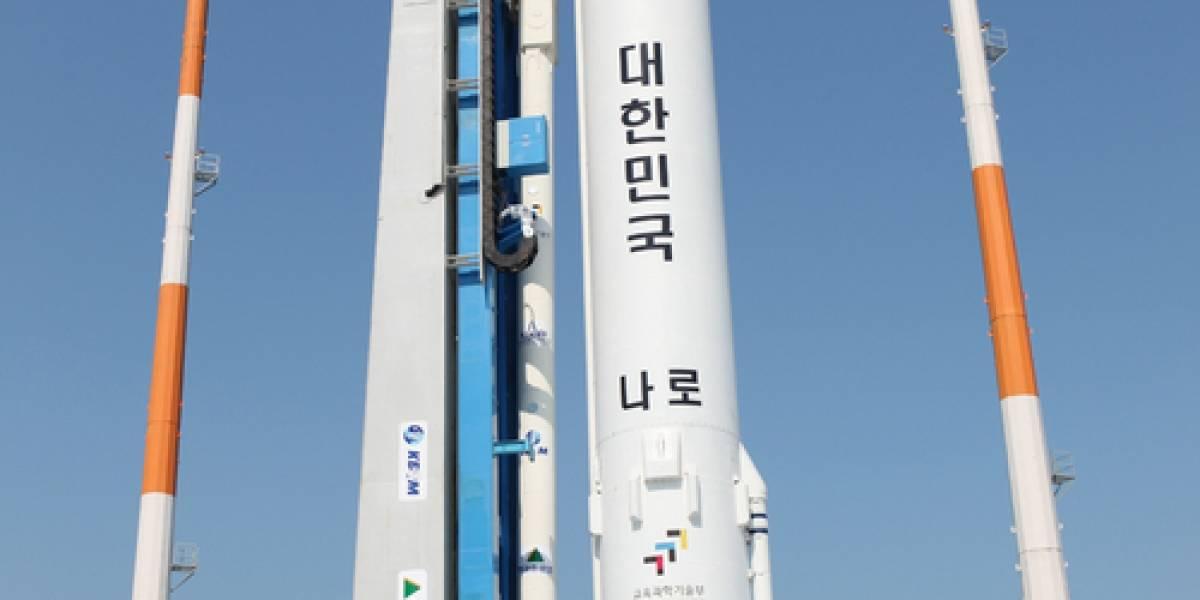 Corea del Sur falla en segundo intento de mandar un cohete al espacio (Video)