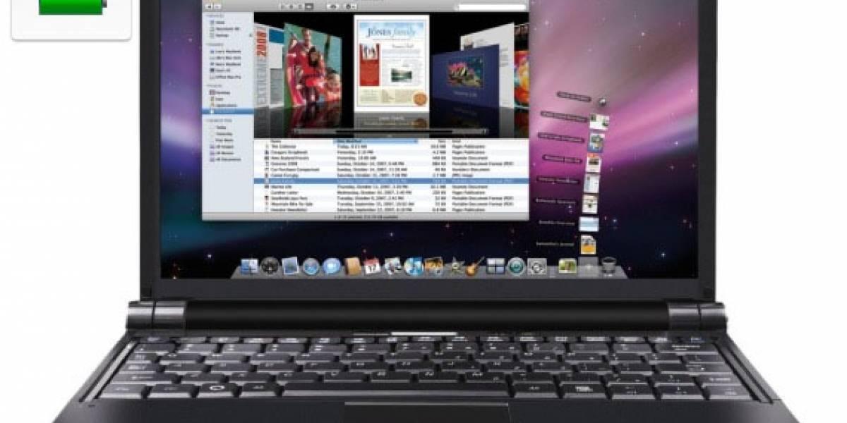 Una netbook hackintosh con OS X 10.5.7 mejora la vida de la batería